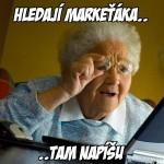 Babička hledá práci
