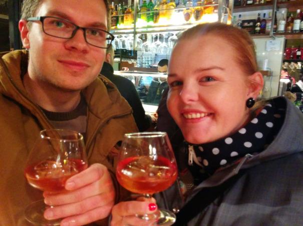Opustit Madrid bez skleničky pacharánu jsme nemohli, tak jeden [čti tři] na rozloučenou.