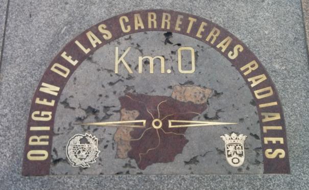 Nultý kilometr. Všechny španělské cesty vedou z Madridu.