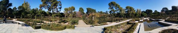 Zahrada plná růží - Rosaleda del Retiro