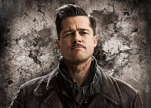 Brad Pitt jako Aldo Reine v Hanebných panchartech