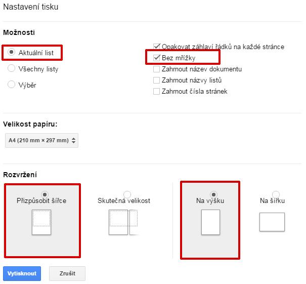 google-sheets-nastaveni-tisku